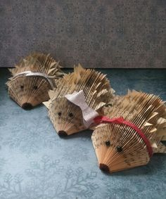 Bookfold hedgehogs made by me! Poppy-Rose Crafts on facebook