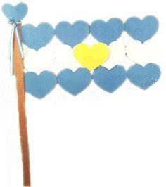 Tarjeta para el día de la Bandera Argentina.