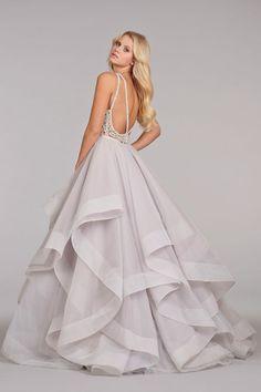"Dori"" Alabaster tulle wedding dress | Alabaster tulle bridal gown with halter high neck alabaster and ..."