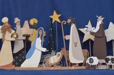 Krippenfiguren aus Holz - Maria/Josef/Jesuskind von mw-holzkunst auf DaWanda.com