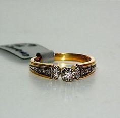 "10 Karat Yellow Gold ""Illusion"" Style Engagement Ring"