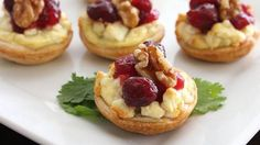 Cranberry Blue Cheese Appetizers - I'm changing to goat cheese and caramelized walnuts. Yum!