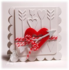 Cupid's Arrow Valentine card by Jen Shults using Cupid's Arrow die set by Taylored Expressions