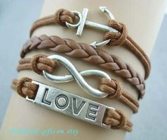 Hand woven bracelet with leather by Bestfriendgiftshop on Etsy, $2.99