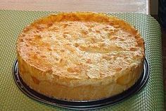 Pfirsichkuchen Peach cake, a very nice recipe from the baking category. Pudding Desserts, Pudding Recipes, Dessert Recipes, Peach Cake Recipes, Tart Recipes, Easy Cookie Recipes, Baking Recipes, Cake Recipes With Pictures, Cookies Receta