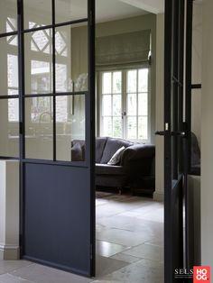 Loft House, Door Trims, Diy Bed, Modern Kitchen Design, Windows And Doors, Glass Door, Decoration, Sweet Home, Villa