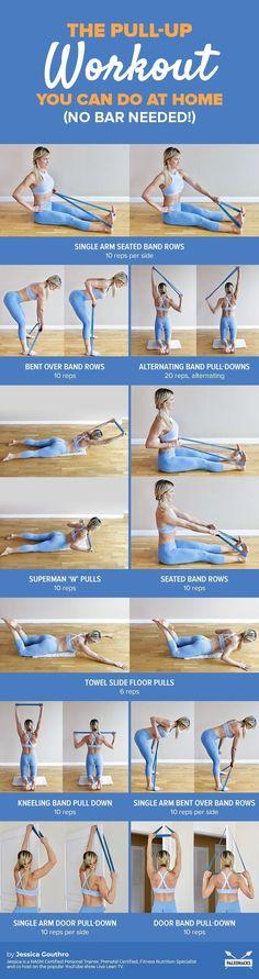 Pull-up alternatives Yoga Fitness, Fitness Workouts, Physical Fitness, At Home Workouts, Fitness Tips, Sport Fitness, Fitness Motivation, Fitness Check, Full Body Workouts