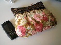 Vintage inspired romantic purse with flowers french by Crearts, $18.00
