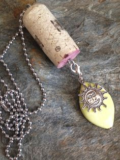 Upcycled Wine Cork Necklace  Mix and match by DesignsByDenisia, $6.99