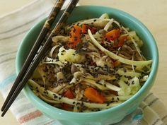 Yakisobra cru de palmito com legumes