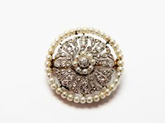Exquisite Edwardian Brooch! #Edwardian #Diamond #Pearl #AntiqueBrooch