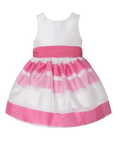 Look what I found on #zulily! Rose & White Gradient Stripe Dress - Infant #zulilyfinds