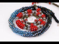 USED MATERIALS: 1. Czech beads nr. 10,nr.9, nr. 8, nr.6 2. Bicone crystal 3mm. (1/2)