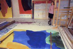 Helen Frankenthaler in her studio By Michael Fredericks