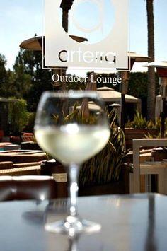 Sunny days call for a crisp white wine on the patio at #Arterra. #delmar