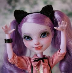 Custom Ever after Monster high Doll Kitty Cheshire OOAK Repaint by Prescilla #DollswithClothingAccessories