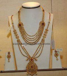 Jewellery Designs: Fancy Multi Strings Set and Long Chain Jewellery Designs, Jewelry Patterns, Necklace Designs, Gold Jewelry Simple, Fine Jewelry, Long Pearl Necklaces, Gold Necklace, Necklace Set, Bollywood Jewelry
