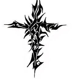Tattoos of Tribal Cross: Free Design Tribal Cross Tattoos ~ tattooeve.com Tattoo Design Inspiration
