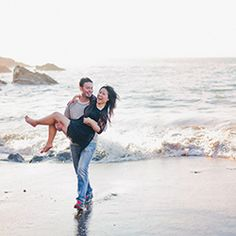A beautiful California engagement session with stunning scenery, an adorable dog and balloons!