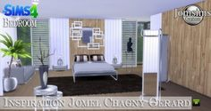 Jom Sims Creations: Inspiration Jomel Chagny Gerard bedroom • Sims 4 Downloads
