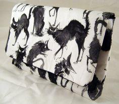 Alexander Henry Crazy Black Cats Clutch by thetinybird on Etsy, $42.00