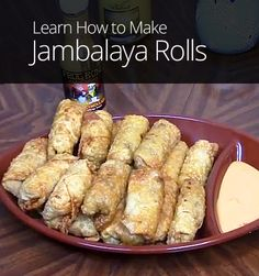 Jambalaya and egg rolls are both great party food. In this lesson, teacher Smoky Ribs shows you how to combine the two, for some deep fried Cajun fusion! How To Make Jambalaya, Drink Recipes, Dinner Recipes, Egg Roll Recipes, Egg Rolls, Healthy Eating Recipes, Outdoor Cooking, Lunches And Dinners, Holiday Recipes