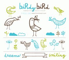 CLIP ART - Birdy Bird - for commercial and personal use