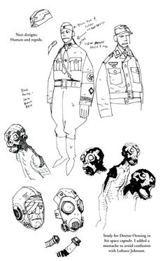 Doctor Oeming concept art by Mike Mignola: