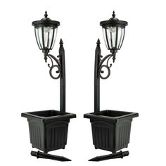 Shop for Sun-Ray Kambria Multi Function Solar Lamp Post and Planter (Set of Get free delivery On EVERYTHING* Overstock - Your Online Outdoor Lighting Store! Get in rewards with Club O! Outdoor Solar Lamps, Patio Lighting, Lighting Store, Outdoor Lamp Posts, Wall Lighting, Accent Lighting, Sconce Lighting, Solar Powered Lanterns, Solar Lights