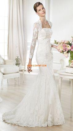 Printemps 2014 Manche ajustée Zip Robes de mariée 2014