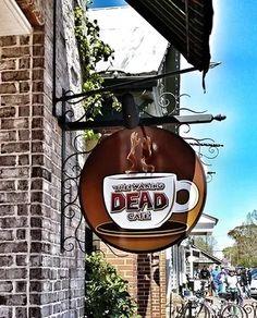 The Waking Dead Cafe on Main St., Senoia, Georgia