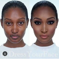 """Before and after on this beauty 👌🏿 Don't miss my """"Ebony Glam"""" online makeup class tomorrow night on Details on what… Makeup Tips, Beauty Makeup, Eye Makeup, Makeup Products, Makeup Videos, Black Girl Makeup, Girls Makeup, Make Up Kurs, Maquillage Black"""