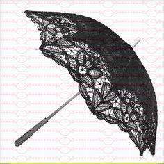 Bügelbilder - Vintage Bügelbilder Nostalgie Regenschirm DIN A4 - ein Designerstück von Doreens-Bastelstube bei DaWanda