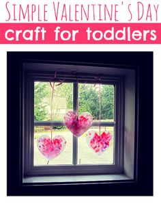Great toddler craft for Valentine's Day, easy
