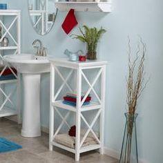 X-Frame 3-Shelf Storage Tower - White - Kmart