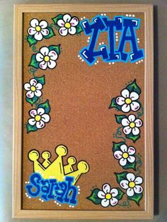 Hey ... This would be super cute with ladybugs and ASA letters!  Just get a plain corkboard from ACMoore and some paint and stencils and you're good to go!
