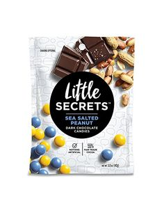 Little Secrets - Gourmet Chocolate Candy - Dark Chocolate Sea Salted Peanut {5 oz., 4 Count} - The World's Most Unbelievably Delicious Chocolate Candies