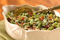 Company Green Beans:  Try a new take on green bean casserole in half the time. Bacon, white wine and Sargento Fine Cut Shredded Monterey Jack Cheese create a delicious and easy update on tradition. (from Sargento.com)