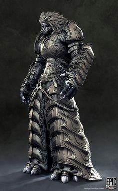 Gears of War Locust Characters | Randomonium — Gears of War 3 character details — Armored Kantus.