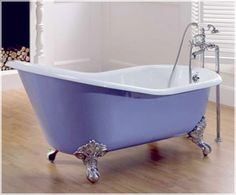 Cast iron traditional slipper roll top freestanding bath tub with ball and claw feet - Aston Matthews Cast Iron Bathtub, Claw Foot Bath, Bath Paint, Roll Top Bath, Bath Shower Mixer, Bathroom Renos, Traditional Bathroom, Clawfoot Bathtub, Bath Tub