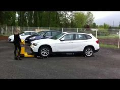 Véhicle mover EasTract CarTract first time for Sandrine with a new machine - YouTube
