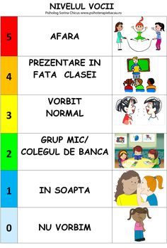 Reglarea nivelului vocii - fisa pentru copii - Blog Sorina Chicus - psiholog Class Management, Classroom Management, Signo Libra, Teacher Supplies, Classroom Rules, Class Projects, English Lessons, Emotional Intelligence, Kids Education