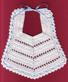 See related links to what you are looking for. Crochet Baby Bibs, Crochet Baby Beanie, Crochet Baby Clothes, Crochet Yarn, Free Crochet, Baby Bibs Patterns, Baby Knitting Patterns, Crochet Patterns, Knitting For Kids