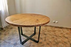 Стол Lap 2 Компактный круглый кухонный стол измассива дуба наэлегантном металлическом подстолье. Очень удобный ивместительный стол, предназначенный дляпосадки 6 человек.  Подробнее здесь: http://amp.gs/zcxe #стол #столешница #кухонныйстол #кухня #гостиная #дизайнинтерьера #мебель #мебельназаказ #slab #издерева #мебельиздерева #interior #eco #дизайнкухни