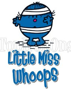 Mr. Men and Little Miss Whoops T Shirt Iron on Transfer #44