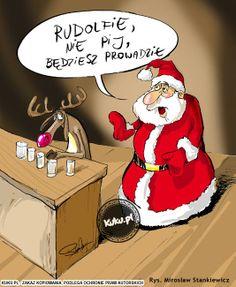 Komiks Rudolfie nie pij będziesz prowadził. (źródło: http://kuku.pl)