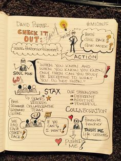 Sharing my from David Porter's keynote. The Soul Man share heart. Teacher's passion, his success. Visual Note Taking, Sketch Notes, Giving Back, Comprehension, Keynote, School Stuff, Knowing You, Doodles, Journey
