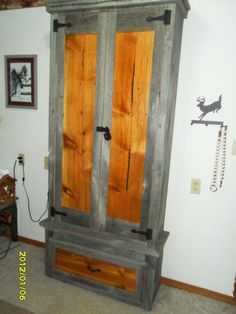 Gun Cabinet, built from pallets. The glass door and frame were ...