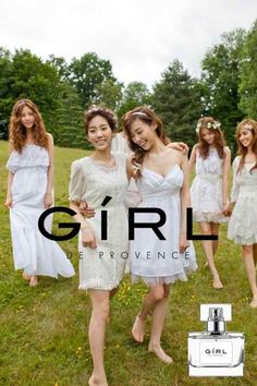 Girls' Generation unveils group and individual CFs for 'GiRL' perfume