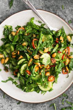 Cucumber Peanut Salad | @naturallyella